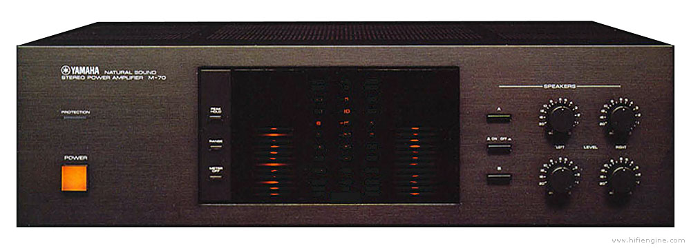 Yamaha M70  Manual  Natural Sound Stereo Power Amplifier  HiFi    Engine