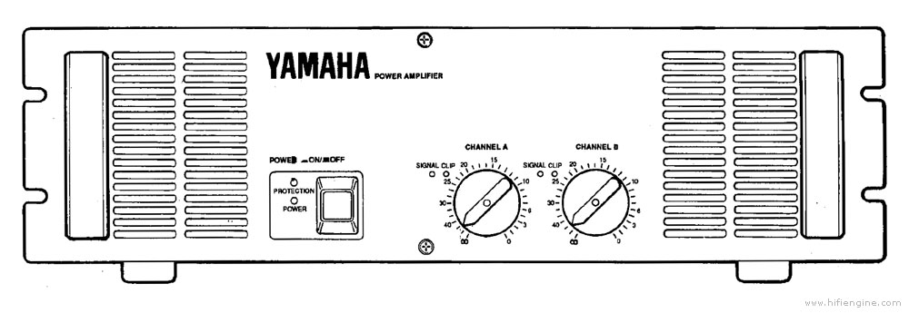yamaha p2350 - manual - stereo power amplifier