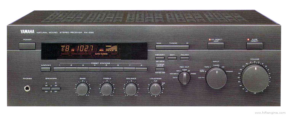 yamaha rx 595 manual stereo receiver hifi engine