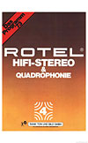 rotel hifi stereo and quadraphonie cover